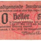 SV * 10  HELLER  1918  Austria - Innsbruck   NOTGELD   unifata