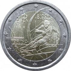 ITALIA moneda 2 euro comemorativa 2006, UNC, Europa, Cupru-Nichel