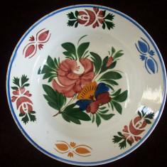 Farfurie din portelan Hollohaza de la sfarsitul sec.XIX.Motiv floral.Reducere! - Arta Ceramica