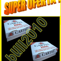 2 X CARTEL 1000 filtre tigari / cutie - 2.000 tuburi tigari injectat tutun - Filtru tutun