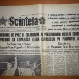 Ziarul scanteia 22 aprilie 1979 ( vizita lui ceausescu in mozambic si burundi )