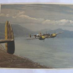 FOTO AVION MLITAR GERMAN WWII MESSERSCHMITT 110 - Fotografie veche