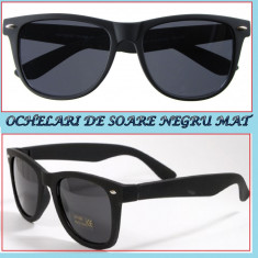Ochelari de soare- tocilar NEGRU MAT - Ochelari stil wayfarer, Unisex