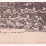 CARTE POSTALA SCRISA - DREIGLIEDRIGES FEUER (ALINIAMENTUL DE TRAGERE) - ANUL 1904 - MAI RARA, Europa, Circulata