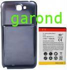 Acum. Li-ion, ext.+carcasa spate+NFC,  3,7V/4800mA - comp. Samsung Galaxy Note II - albastru/1537