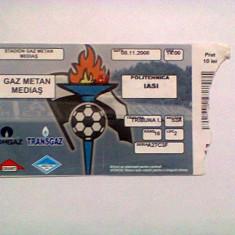 Gaz Metan Medias-Politehnica Iasi (8 noiembrie 2008) - Program meci