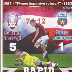 2A(56X) Program de meci-RAPID -STEAUA - Program meci