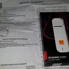 Huawei E3251 USB modem H+ 43.2 Mbps, sigilat, NEcodat, fact+gar Orange 2 ani