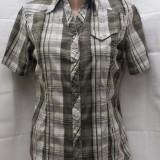 Camasa cu maneca scurta in carouri de la CECIL - Camasa dama, Marime: S/M, Culoare: Multicolor, Casual, Bumbac