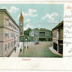 1697 - L i t h o, Hunedoara, ORASTIE, centru - old postcard - used - 1903