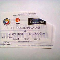 Politehnica Iasi - Universitatea Craiova (Cupa Romaniei) - Program meci