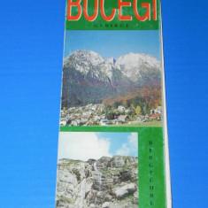 HARTA TURISTICA muntii BUCEGI 1998 . TEXT LIMBA GERMANA. Muntii carpati