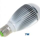 BEC ECONOMIC 7W CU LED E27 DULIE NORMALA  ALB RECE  - COD 5010 -, Becuri economice, Rece (4100 - 4999 K)