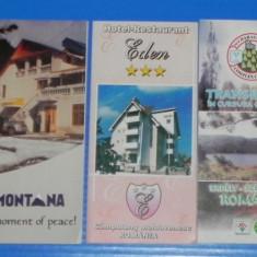 Lot 6 pliante turistice hoteluri sau pensiuni - BUCURESTI, SALISTE, VATRA DORNEI - Reclama Tiparita