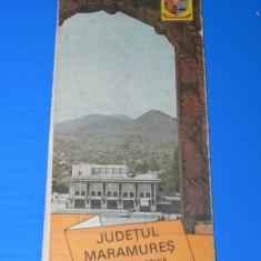 JUDETUL MARAMURES - HARTA TURISTICA OJT RSR