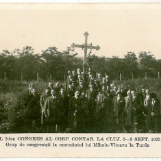 2582 - Cluj, TURDA, vizita la mormantul lui Mihai Viteazul - old PC - unused - Carte Postala Transilvania 1904-1918, Necirculata, Fotografie