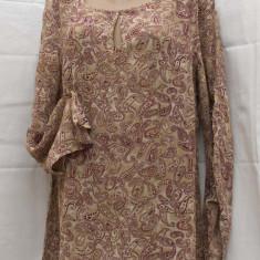 Bluza/Tunica din voal-REDUCERE! - Bluza dama, Marime: 48, Culoare: Bej, Maneca lunga, Vascoza