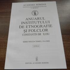 MARIA BATCA, LIGIA FULGA - PRELIMINARY RESEARCH OF THE TRADITIONAL APPAREL - TORAC VOJVODINA extras anuarul institutului de etnografie si folclor 2007 - Carte folclor