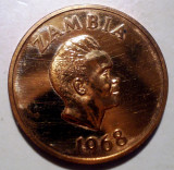 A.054 ZAMBIA 2 NGWEE 1968 PROOF 4000ex.