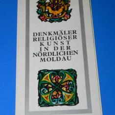 PLIANT turistic MANASTIRILE DIN NORDUL MOLDOVEI limba germana - Reclama Tiparita