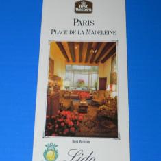 PLIANT turistic PARIS PLACE DE LA MADELEINE BEST WESTERN LIDO - Reclama Tiparita