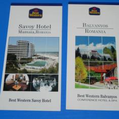 LOT 2 RECLAME HOTELURI BEST WESTERN SAVOY, BALVANYOS, - Reclama Tiparita