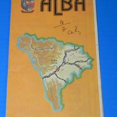 JUDETUL ALBA - HARTA TURISTICA 1983
