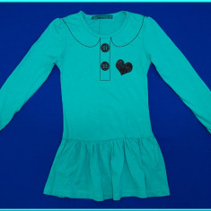 NOUA → Rochie / rochita, bumbac, TERRANOVA → fete | 6-7 ani | 116-122 cm, Marime: Alta, Culoare: Turcoaz