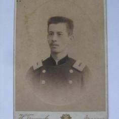 FOTO PE CARTON CU OFITER DIN ANII 1900