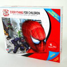 Puzzle 3D cu SPIDERMAN, tip poster, dimensiuni generoase, 6-8 ani, Carton, Baiat