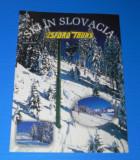 BROSURA turistica SKI IN SLOVACIA. In limba romana. Cazari pensiuni. Hoteluri