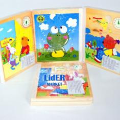 Puzzle tip carte, din lemn - O multime de modele!, 2-4 ani, 2D (plan), Unisex