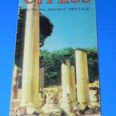 PLIANT turistic CIPRU WITH AN ANCIENT HERITAGE. In limba engleza - Reclama Tiparita