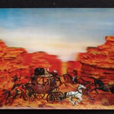 Vedere 3D - Vestul salbatic - indieni si cowboy