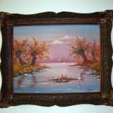 Pictura in ulei, semnata - Pictor roman, Peisaje, Realism