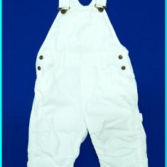 DE FIRMA _ Pantaloni / salopeta vara, scurti-¾, bumbac H&M _ copii | 9 - 12 luni, Marime: Alta, Culoare: Alb, Unisex