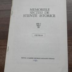 ALEXANDRU DOBRE - VASILE GOLDIS - MILITANT CONSECVENT PENTRU UNITATEA NATIONALA A POPORULUI ROMAN extras memoriile sectiei de stiinte istorice 1978 - Carte folclor
