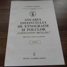 RODICA RALIADE - COMUNICARE SI IMAGINE ETNOLOGICA FOAIA ROMANEASCA SAPTAMANAL AL ROMANILOR DIN UNGARIA. extras anuarul institutului de etnografie 2003 - Carte folclor