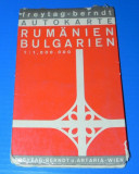HARTA ROMANIA SI BULGARIA. Aparuta in austria