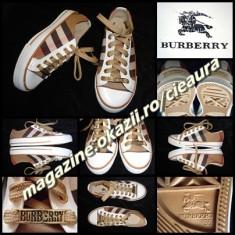 TENISI BARBATESTI firma BURBERRY LONDON ESTABLISHED 1856 PANTOFI SPORT BARBATI - Tenisi barbati Burberry, Marime: 37, 43, 44, Culoare: Alb, Maro, Negru, Textil