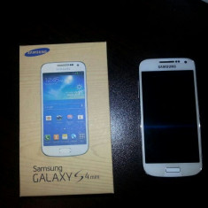 Samsung Galaxy S4 Mini ALB - Telefon mobil Samsung Galaxy S4 Mini, Neblocat, Single SIM
