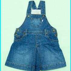 DE FIRMA _ Sarafan blugi, bretele ajustabile, calitate H&M _ fetite | 9 12 luni, Marime: Alta, Culoare: Albastru