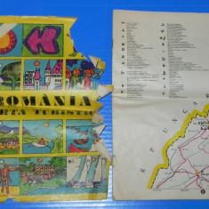 ROMANIA HARTA TURISTICA SUPLIMENT REVISTA ROMANIA PITOREASCA