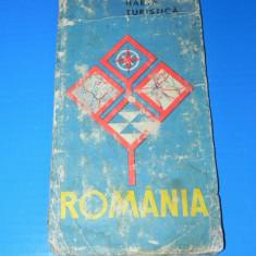 ROMANIA HARTA TURISTICA - DEM POPESCU