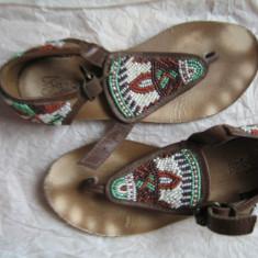 Sandale piele ZARA - Sandale copii Zara, Marime: 31, Culoare: Coniac, Fete, Piele naturala
