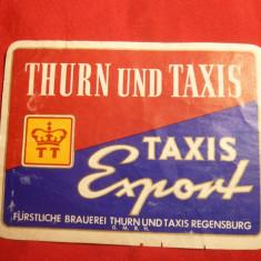 Eticheta veche de Bere - Thurn und Taxes