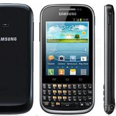 Vand Samsung b5330 Galaxy Chat . 300 lei (inca-i in garantie+ doua huse si usb) - Telefon Samsung, Negru, 4GB, Neblocat, Fara procesor, Nu se aplica