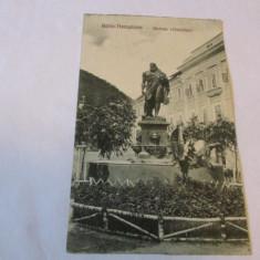 Cp.310-VEDERE  DIN BAILE HERCULANE_STATUIA LUI HERCULES, Necirculata, Fotografie