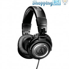 Casti Audio-Technica ATH-M50 ~ ShoppingList, Vanzator Premium din 2011 ~ Produsul se comanda din SUA. Livrare in cca 10 zile lucratoare., Casti On Ear, Cu fir, Mufa 3, 5mm, Active Noise Cancelling