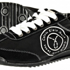 Vand adidasi Calvin Klein Maximius Stone Washed Suede - Adidasi barbati Calvin Klein, Marime: 43, Culoare: Bej, Verde, Verde, Piele intoarsa